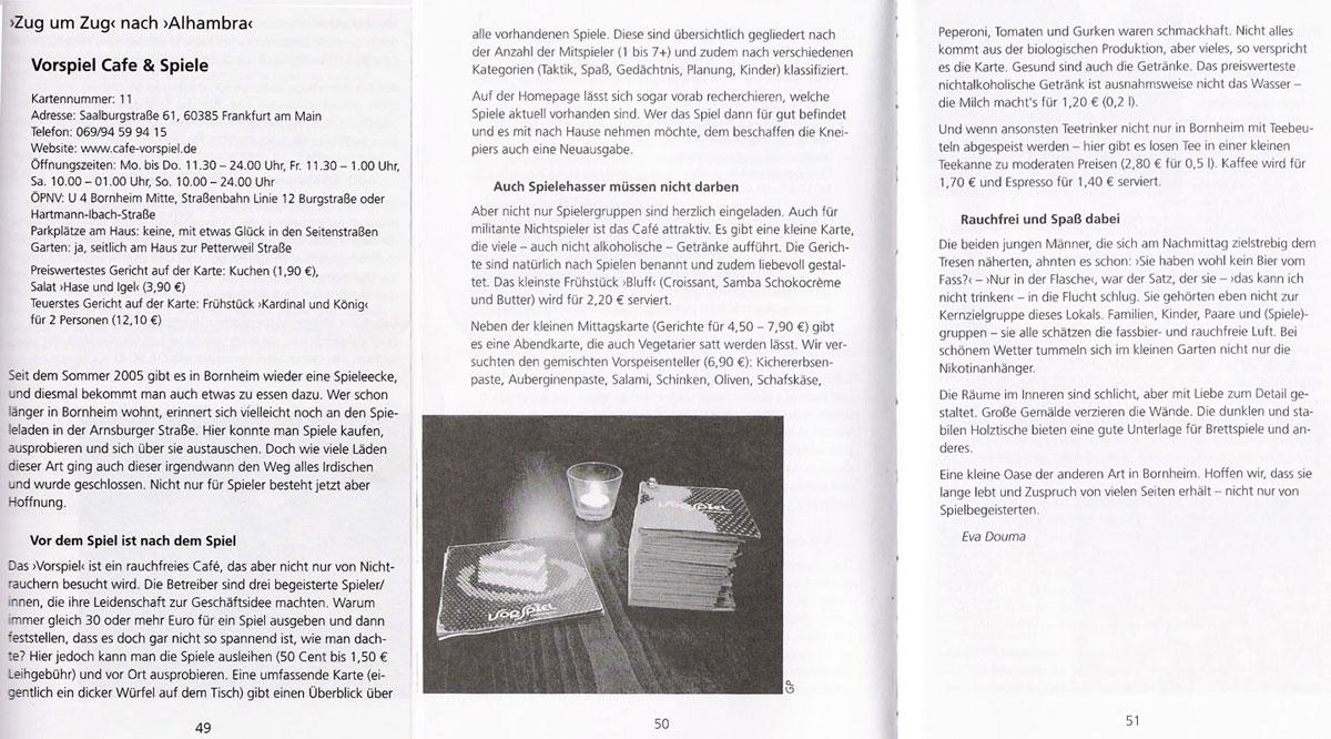 Café VorSpiel - Presse
